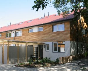 Near passivhaus social housing near Horsham